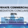 ADR Center at Private Commercial Mediation Conclave 2016 – INDIA