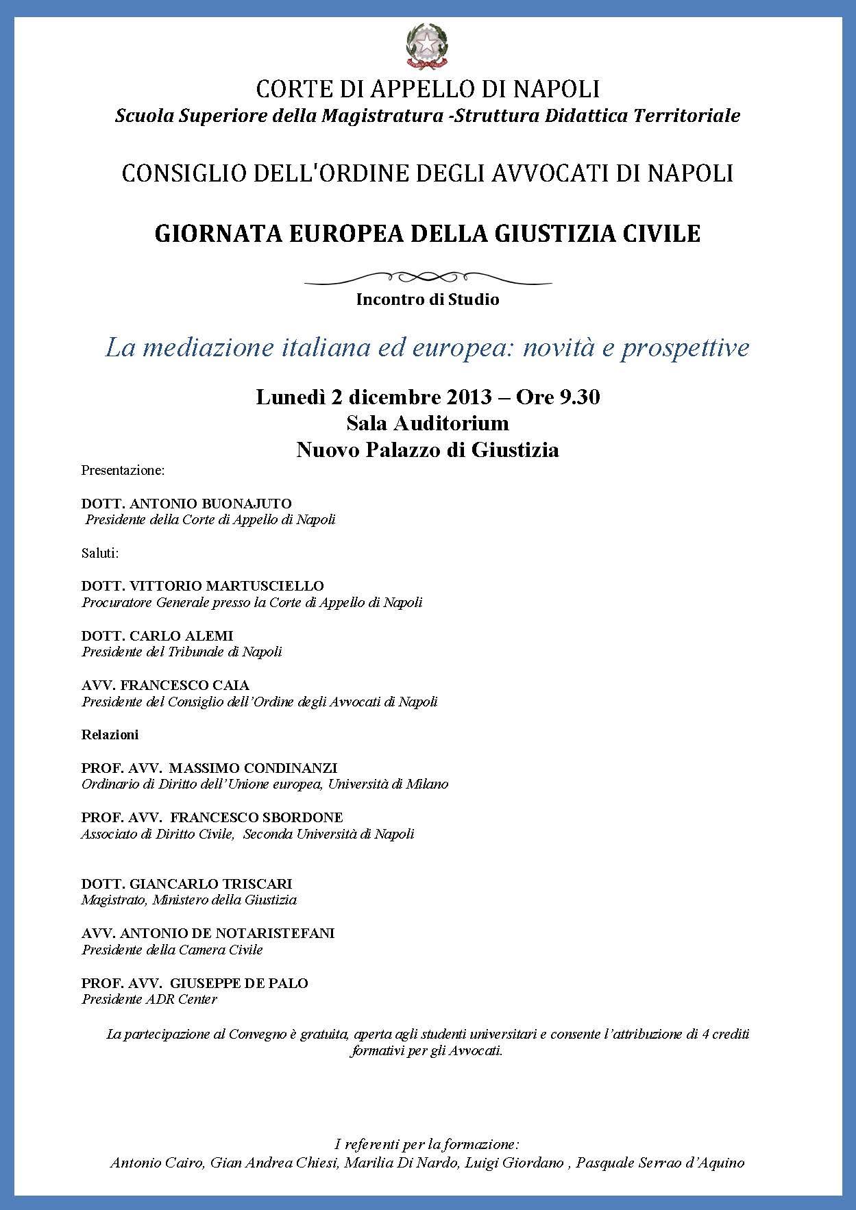 La mediazione italiana ed europea - novità e prospettive
