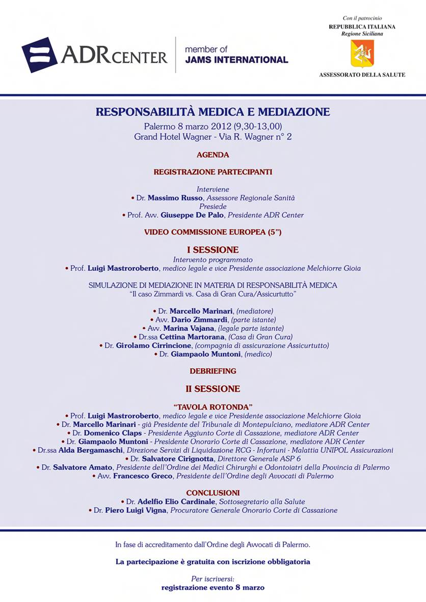 Responsabilità Medica e Mediazione