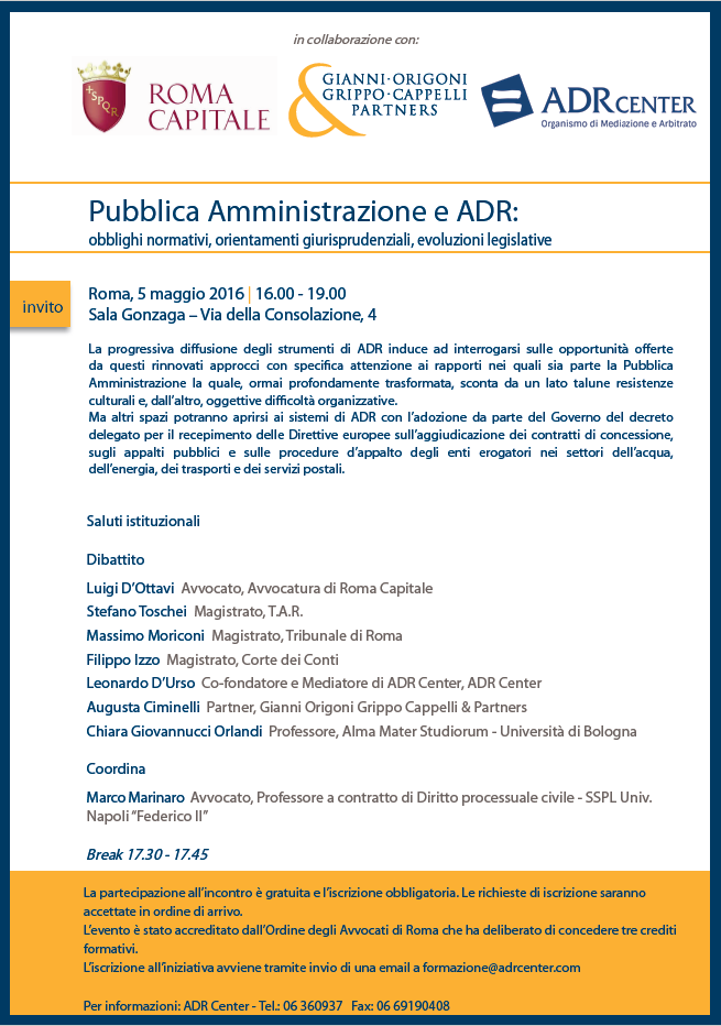 Pubblica Amministrazione e ADR