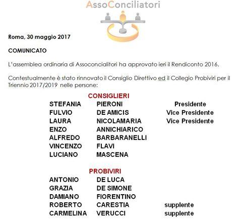 immagine nomine CD Assoconciliatori